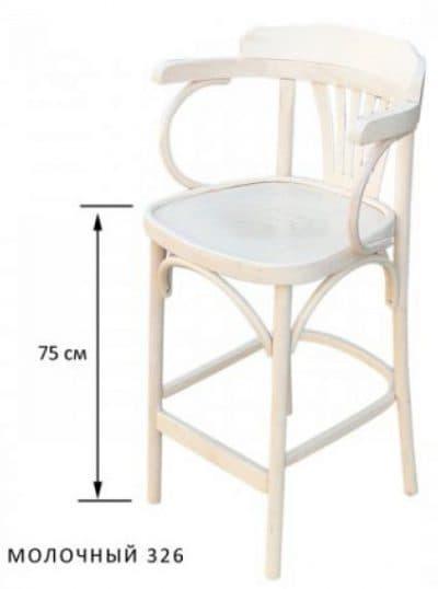 белые деревянные стулья для кухни с гибкими высокими спинками и подлокотниками