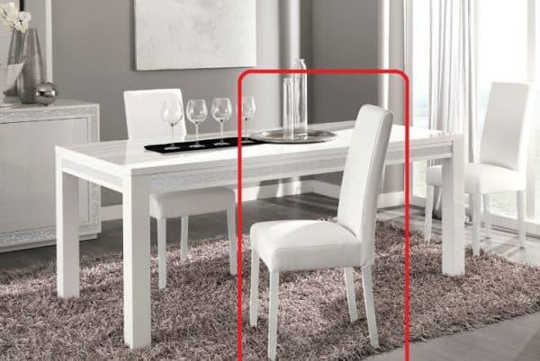 белые деревянные стулья для кухни white crocodile Y031