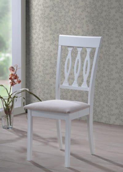 белые деревянные стулья для кухни Бристоль
