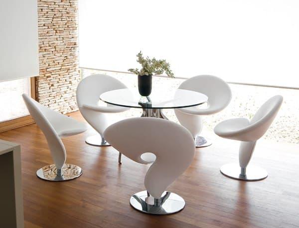 стильный стул для кухни в виде биологической формы