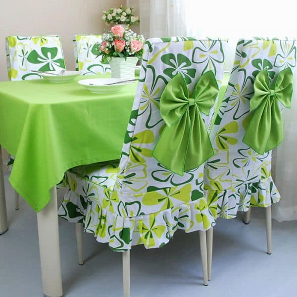 стильный стул для кухни с накидками с принтами