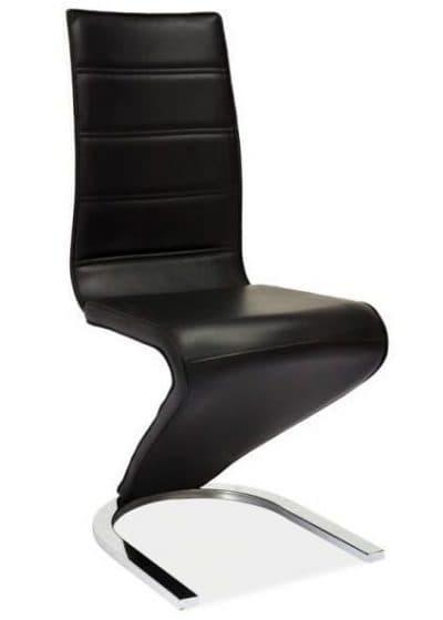 стильный стул для кухни из кожи