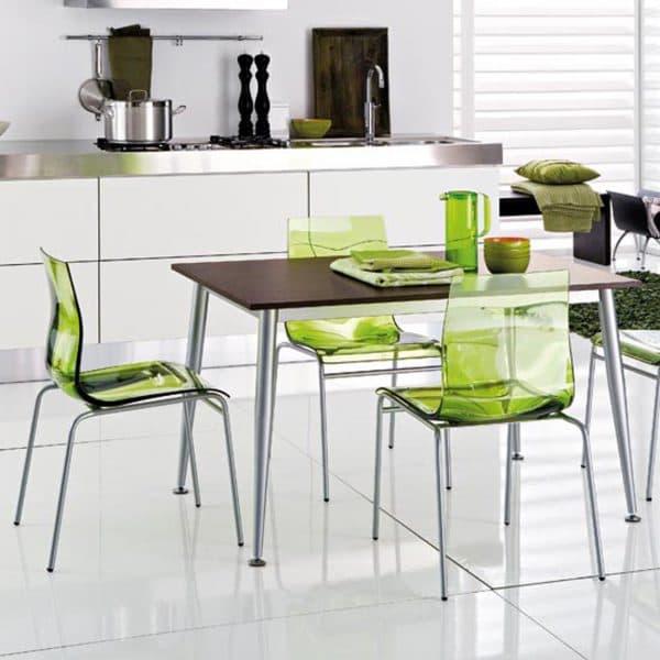 стильный стеклянный стул для кухни