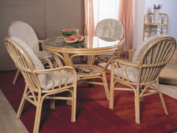 стильный стул для кухни из ивовой лозы