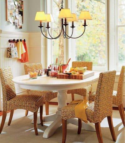 плетёный стильный стул для кухни