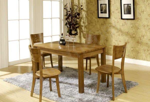 обеденный прямоугольный стол из массива дерева