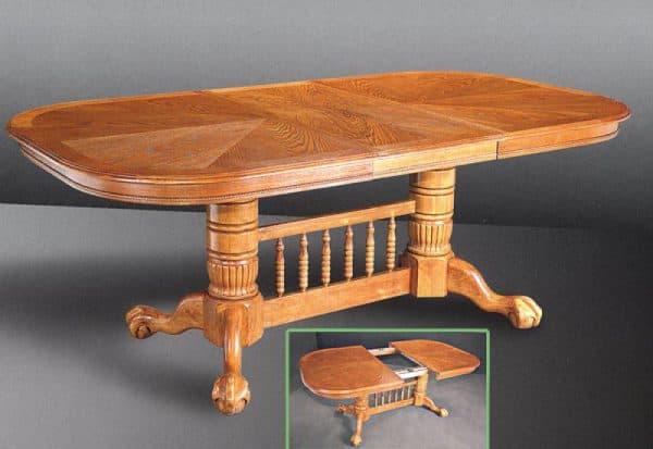 обеденный овальный стол из массива дерева