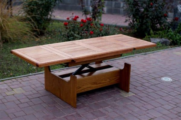стол трансформер из массива дерева