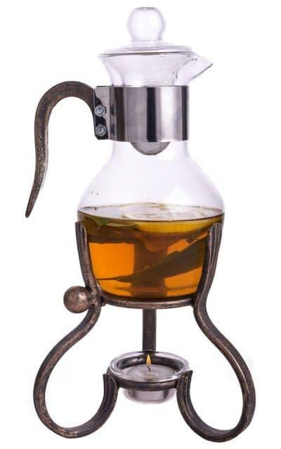 заварочный чайник с подогревом от свечи Ла-Манш