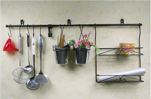 полки из металла для рейлинга для кухни