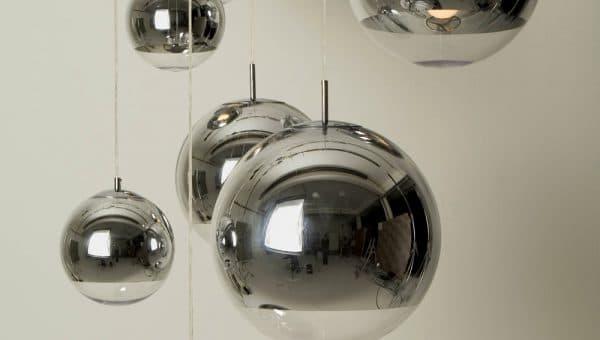 подвесная люстра в виде шара на кухню