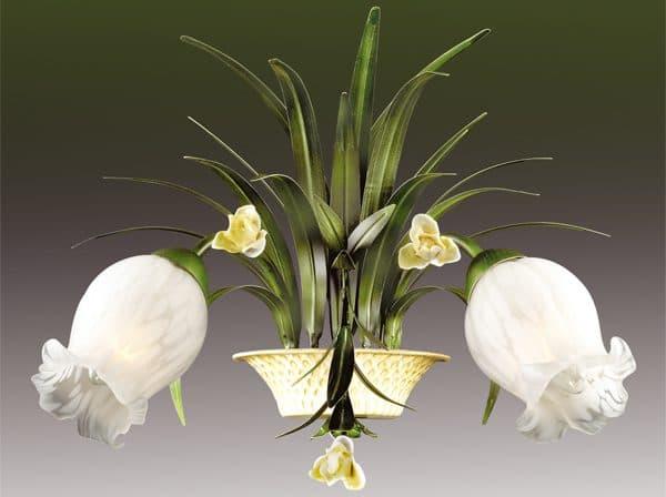 подвесная люстра в виде цветов на кухню Этно