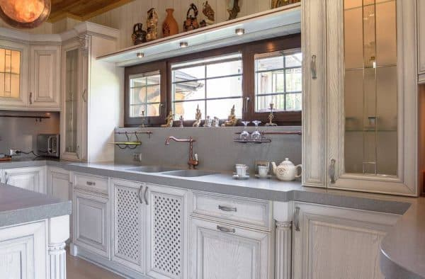 итальянские фасады для кухни из белого дуба
