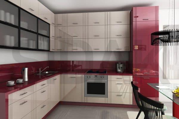 фасады для кухни из влагоустойчивого глянца