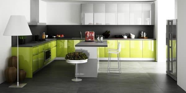 фасады для кухни из глянца ALVIC