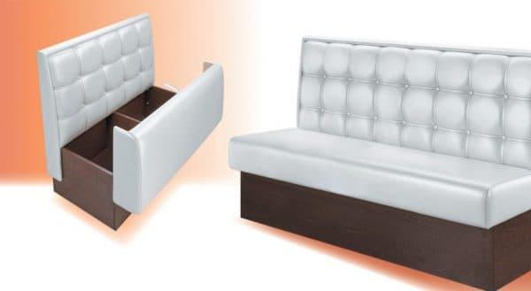 прямой кухонный диван с ящиком для хранения