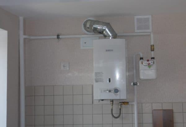 вентиляция на кухне с газовым котлом