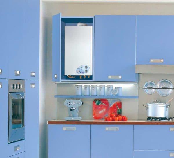скрыть газовый котёл на кухне