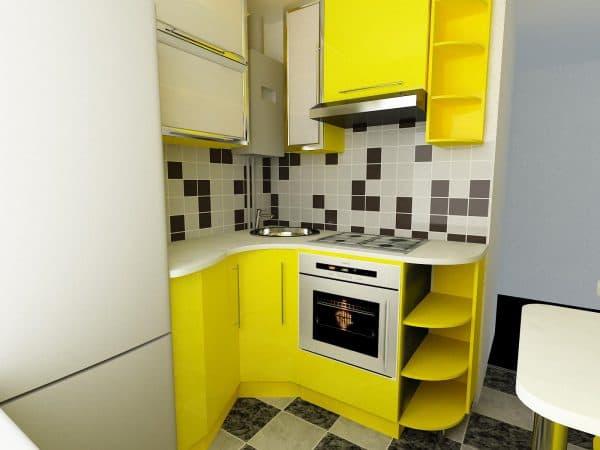 дизайн кухни с газовой колонкой в минималистском стиле